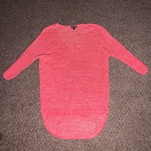 Red and white knit sweater